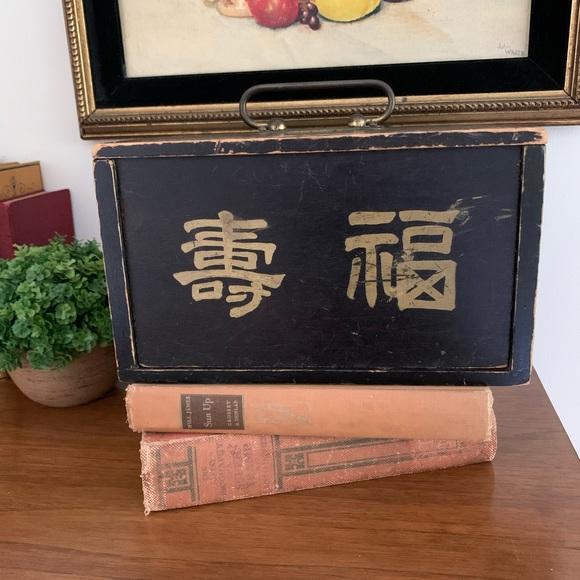 Vintage/Antique Majhong Black Box